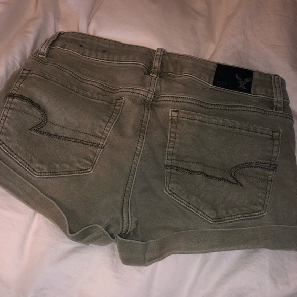 Olive green Jean shorts